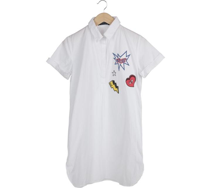 N.Y.L.A White Patched Mini Dress