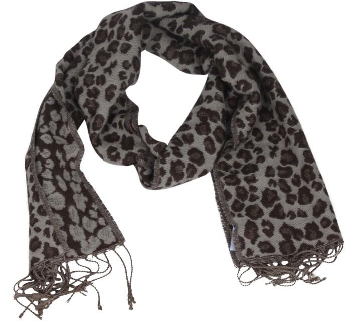 Brown Leopard Scarf