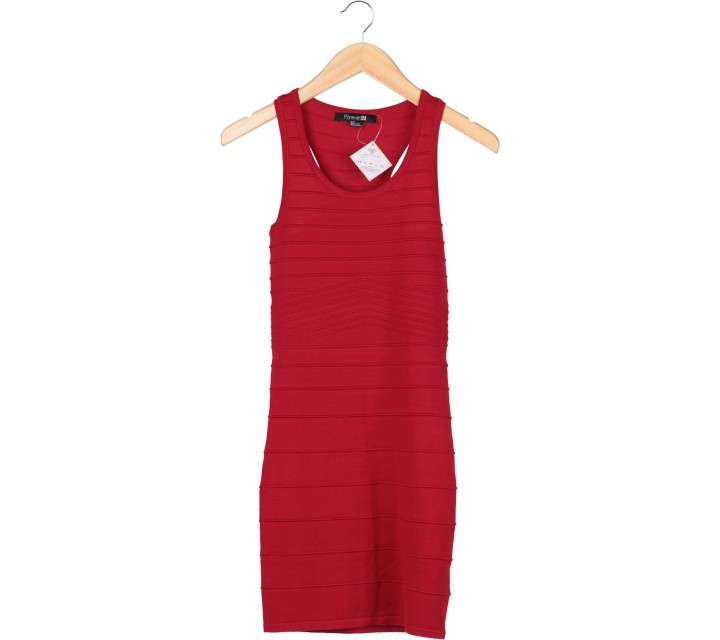Forever 21 Red Sleeveless Mini Dress
