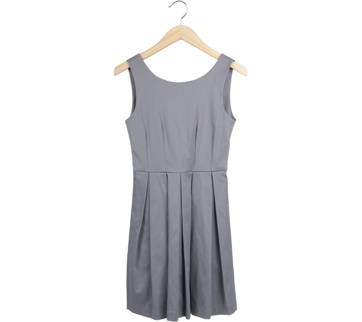 Ciel Grey Low Back Mini Dress