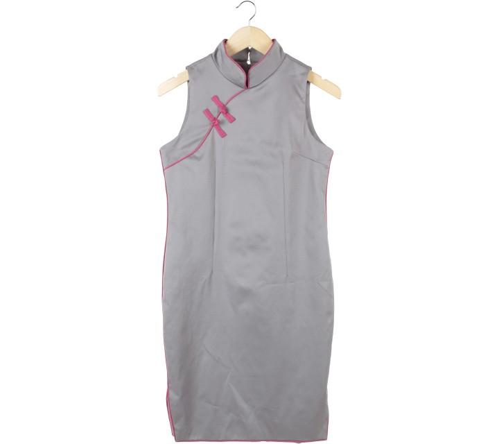Ciel Grey Midi Dress