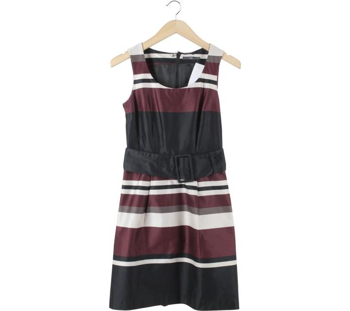 H&M Multi Colour Striped Midi Dress