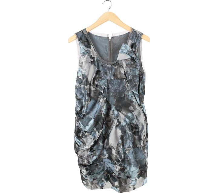 Ciel Blue And Grey Mini Dress