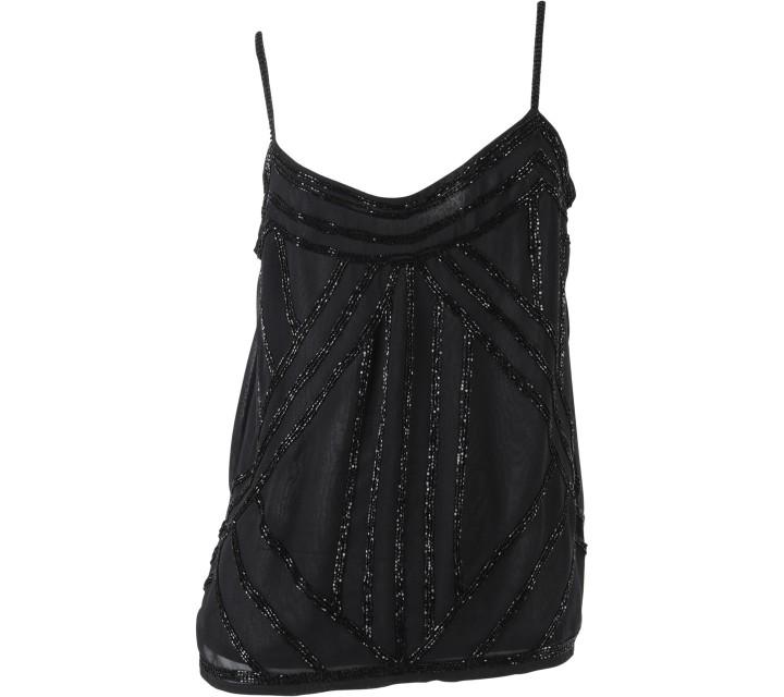 New Look Black Sequins Sleeveless
