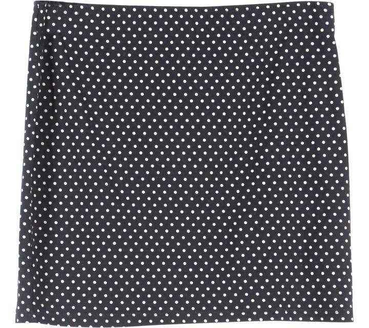 Zara Black And Cream Mini Skirt