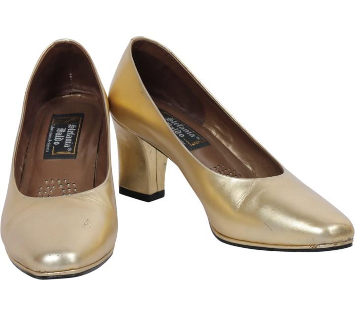 Stefania Baldo Gold Heels
