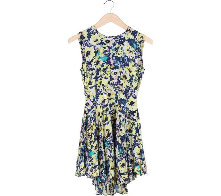 H&M Multi Colour Patterned Midi Dress