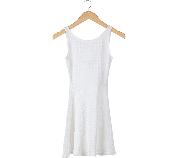 Divided Off White Sleeveless Mini Dress