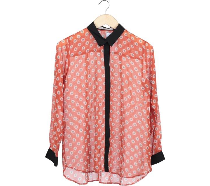 Cotton Ink Orange Floral Shirt