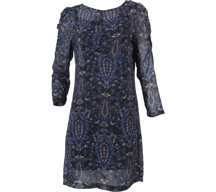 Mango Dark Blue Paisley Mini Dress