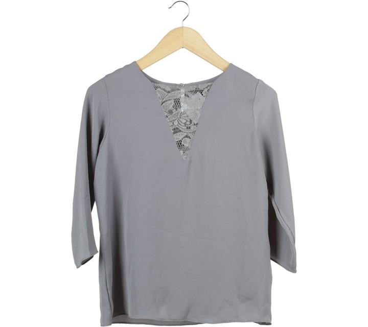 Shop At Velvet Dark Grey Blouse