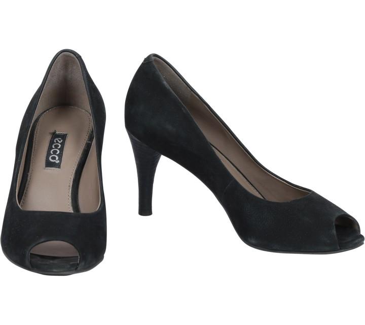 Ecco Black Open Toe Heels