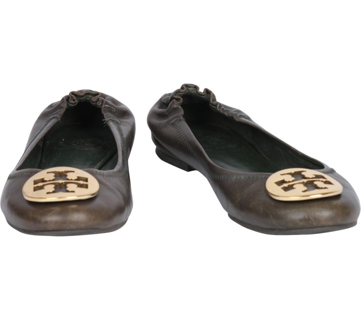 Tory Burch Black Reva Ballerina Flats