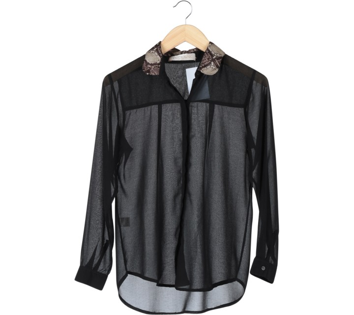 Cotton Ink Black Snakeskin Shirt