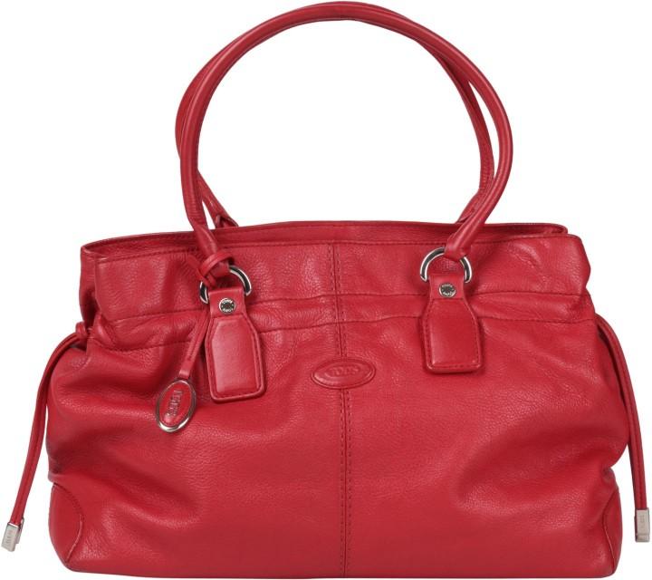 Tod´s Red Leather Shoulder Bag