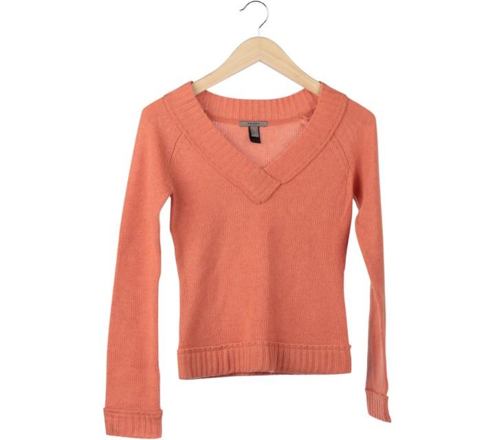 Mango Orange Knit Sweater