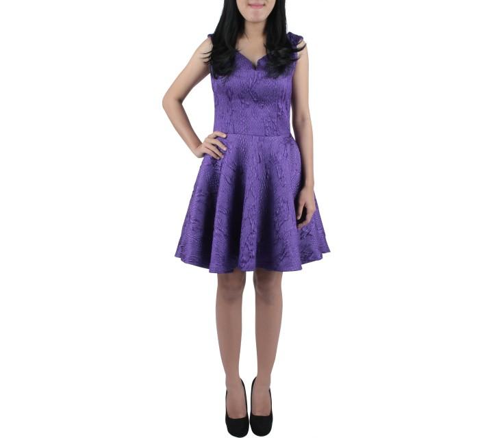 Joel Yonathan Purple Midi Dress