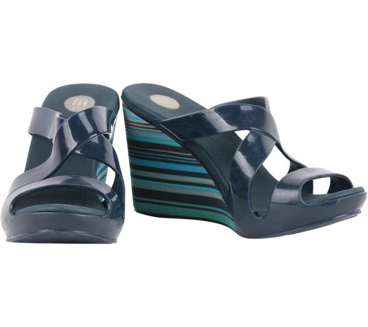 Melissa Multi Stripes Wedges Sandals