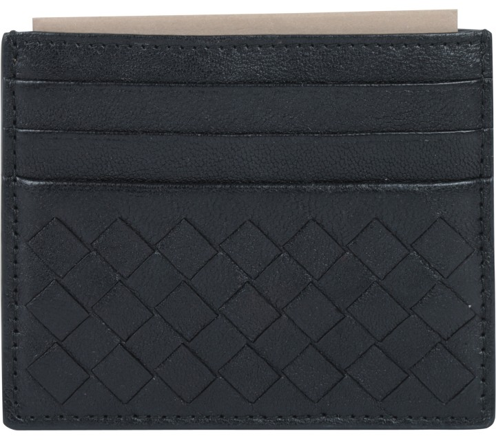 Bottega Veneta Black Card Wallet