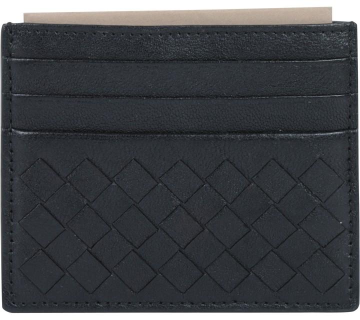 Bottega Veneta Black Card Wallet