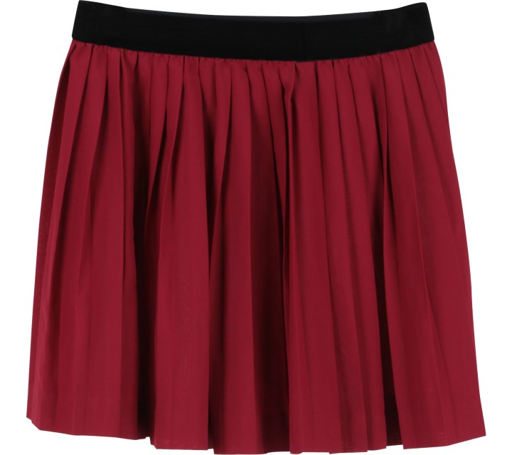 Divided Maroon Skirt