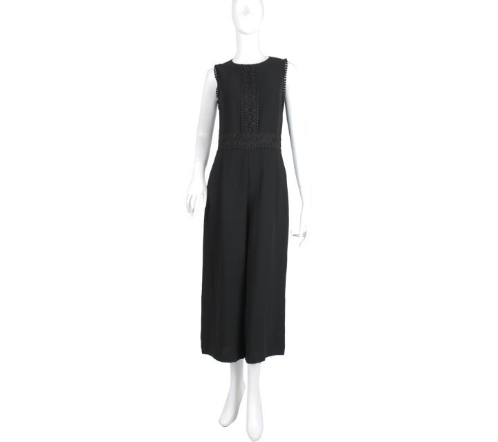 Zara Black Sleeveless Jumpsuit