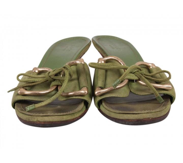 Gucci Green Sandals