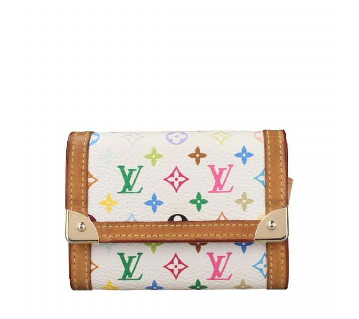 Louis Vuitton White Multicolor Trifold Wallet