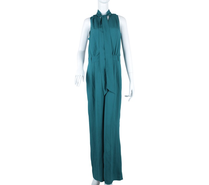 Oasis Dark Green Wrap Jumpsuit