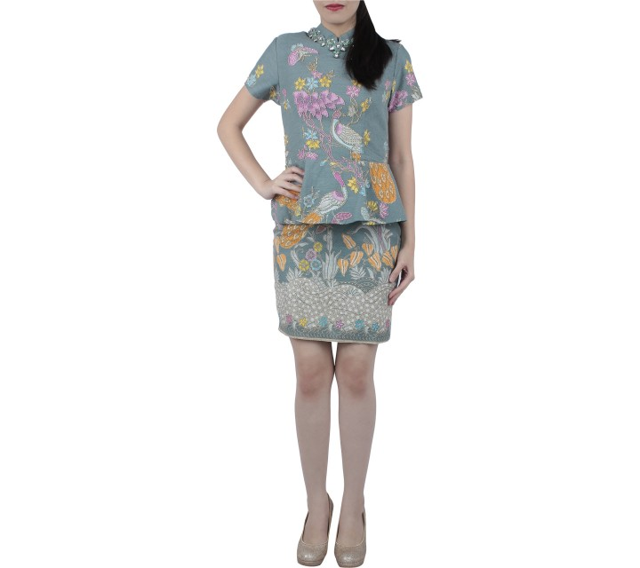 Joel Yonathan Multi Colour Batic Sequins Midi Dress