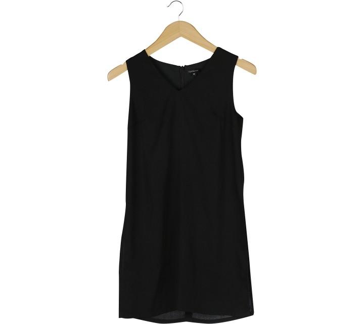 Cloth Inc Black Slit Sleeveless