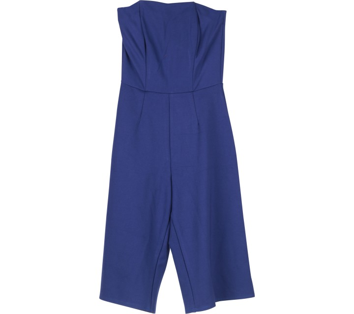 Blue Strapless Jumpsuit