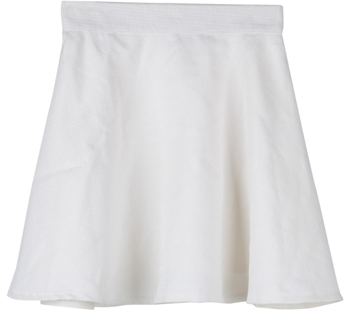 Cloth Inc Off White Textured Skirt