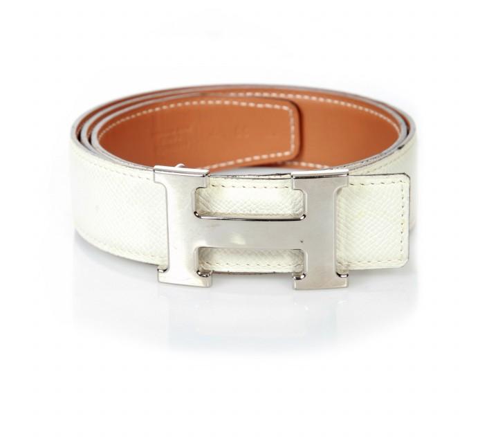 Hermes White Belt