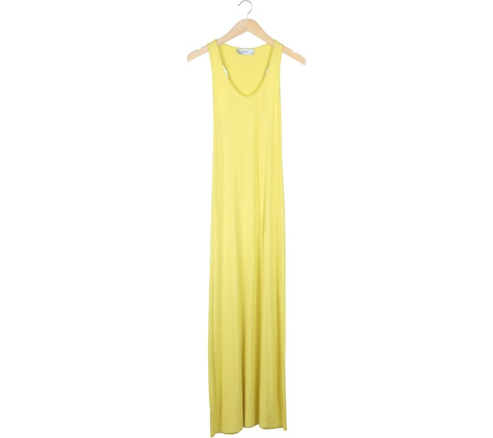 Olenka Yellow Sleeveless Long Dress
