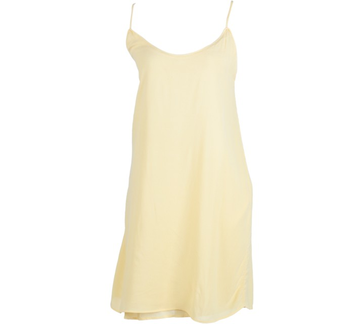 Mango Yellow Sleeveless Mini Dress