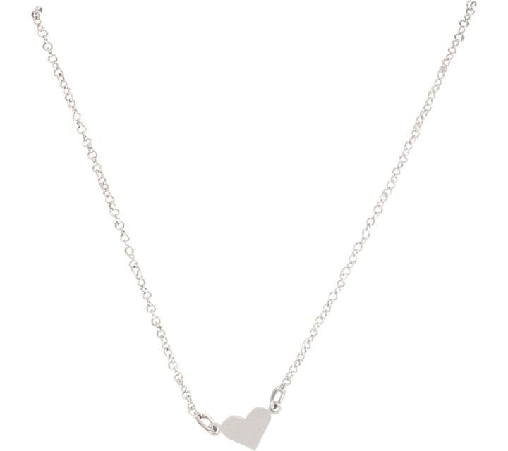 Krom Collective  White Gold Love Necklace Jewellery