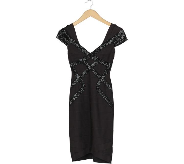 Herve Leger Black Mini Dress