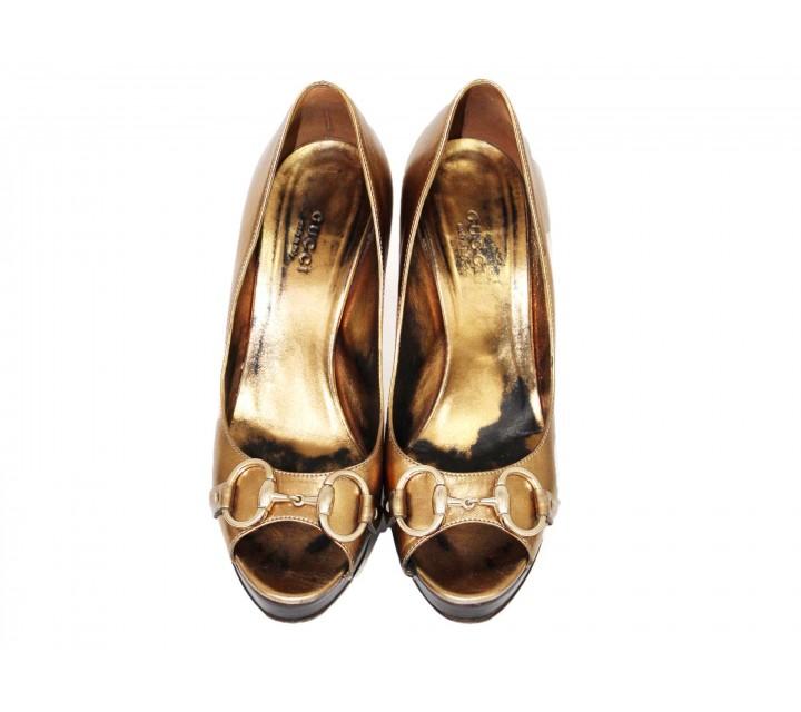 Gucci Gold Heels
