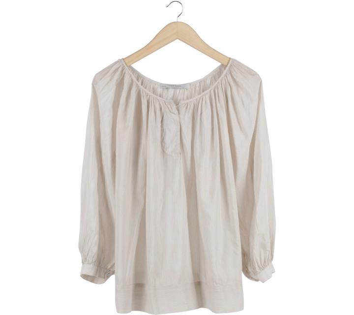 Zara Cream Striped Blouse