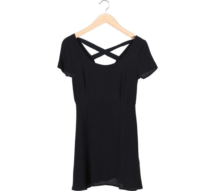 Forever 21 Black X Line Mini Dress