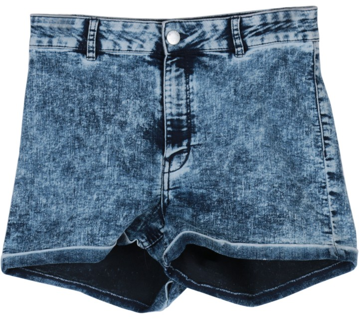 Divided Blue Washed Short Pants