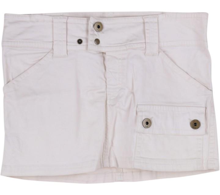 Mango White Mini Skirt