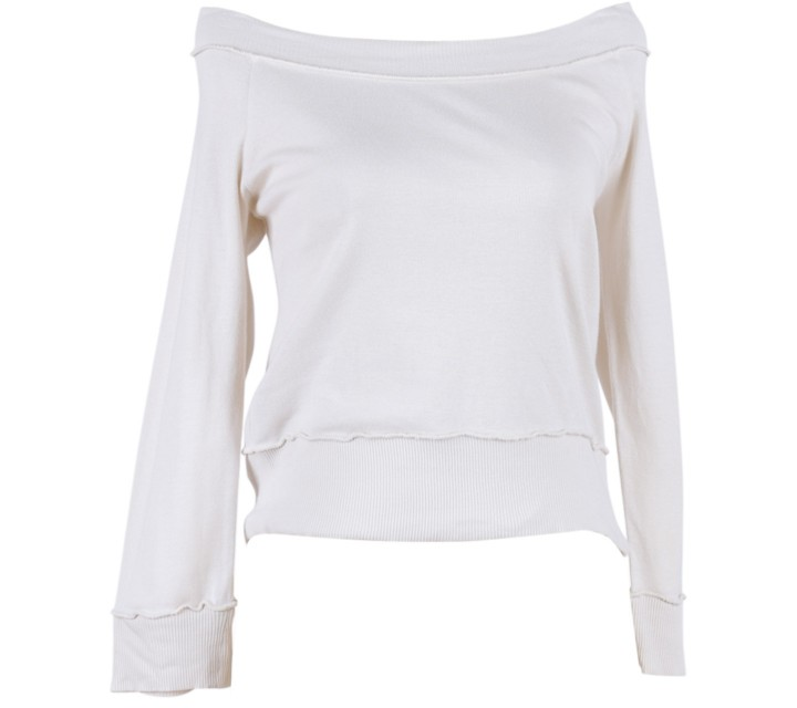 Mango Cream Low Cut Sweater