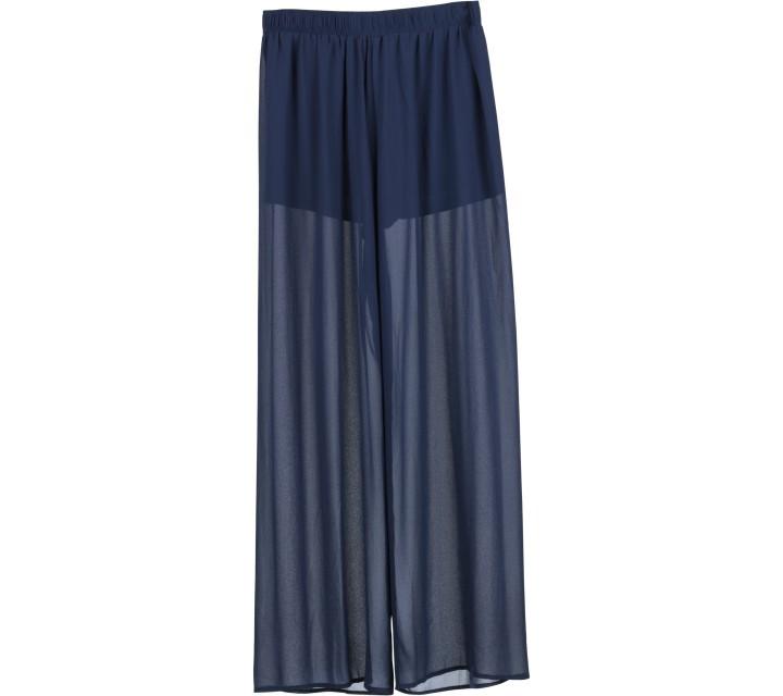 Forever 21 Dark Blue Sheer Pants
