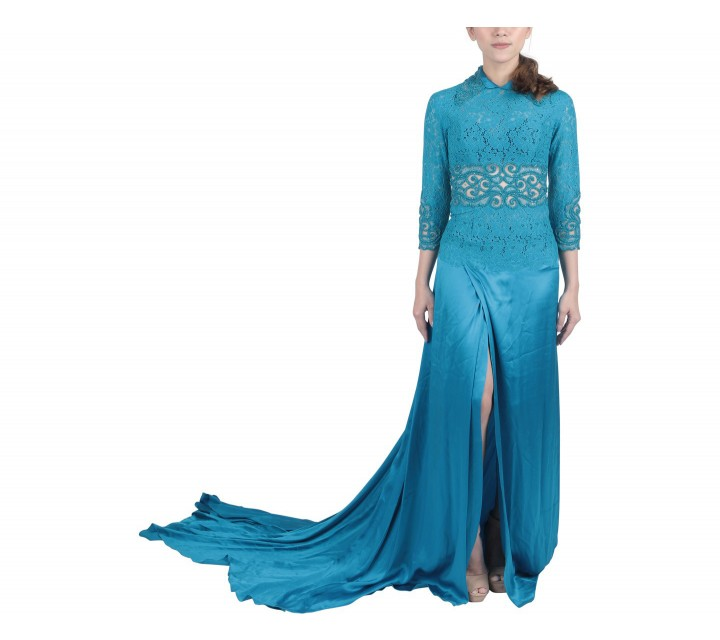 Marga Alam Blue Wrap Long Dress