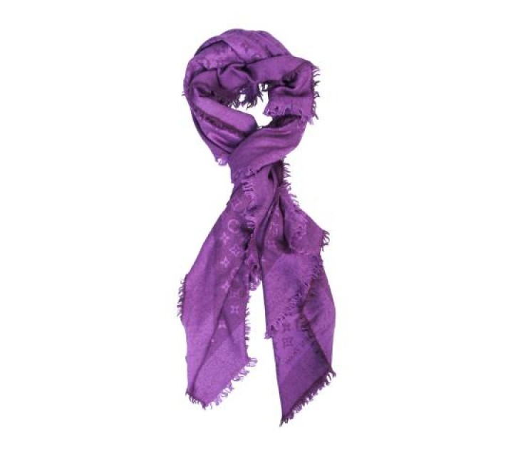 Louis Vuitton Purple Scarf