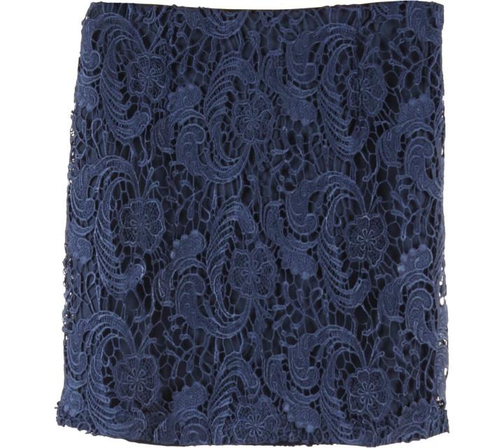 Forever 21 Dark Blue Lace Skirt