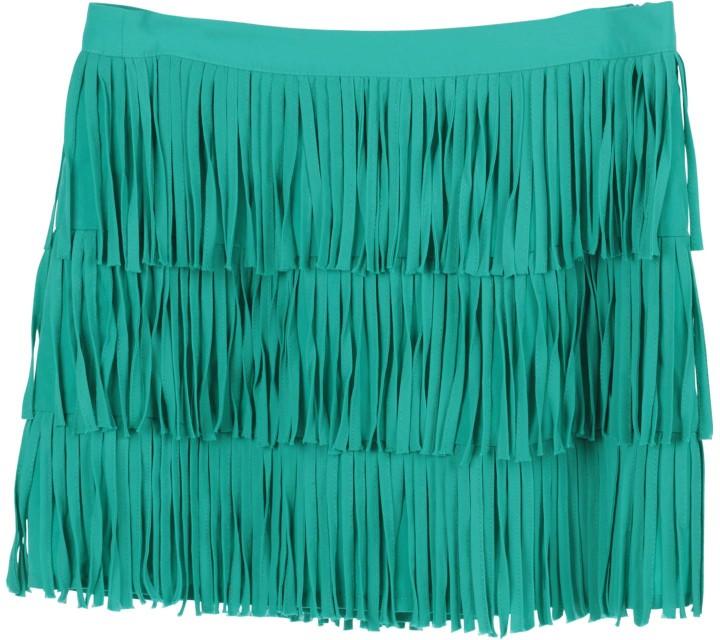 Zara Green Fringe Skirt