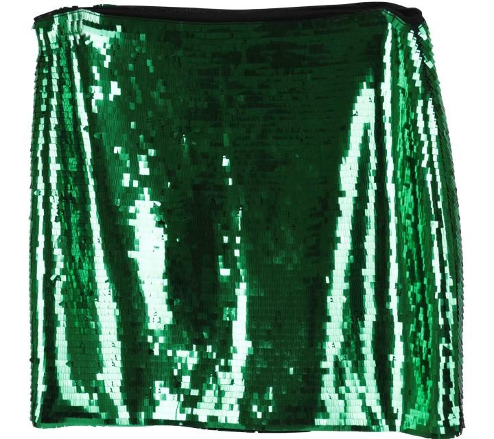 H&M Green Sequined Skirt